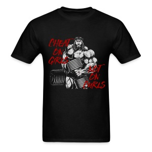 Cheat on Girls Not on Curls - Men's T-Shirt
