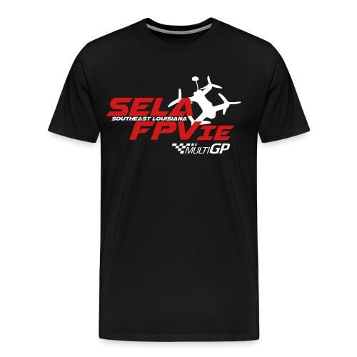 SELA FPVie White Quad with front MultiGP logo - Men's Premium T-Shirt