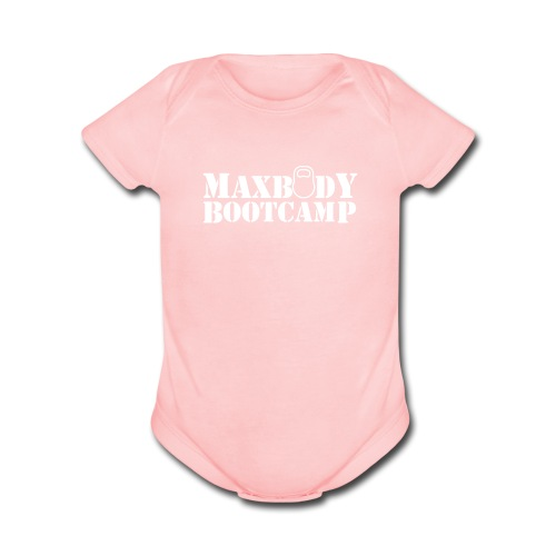 logo-outline - Short Sleeve Baby Bodysuit
