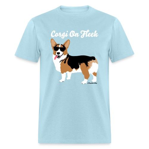 Men's Big Corgi Corgi On Fleek T-Shirt, Light Blue - Men's T-Shirt