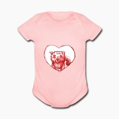 Red Dog Heart Baby Bodysuits
