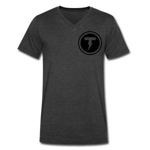Thunderbolt Comedy Men's Cadet Shirt - Men's V-Neck T-Shirt by Canvas
