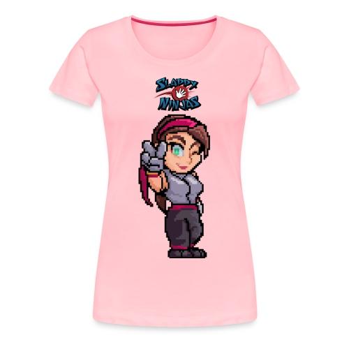 Women's Pinky Victory T-Shirt - Women's Premium T-Shirt