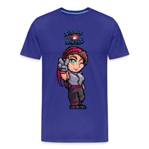 Men's Pinky Victory T-Shirt - Men's Premium T-Shirt