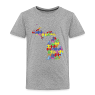 Baby & Toddler Shirts ~ Toddler Premium T-Shirt ~ Michigan Autism Awareness