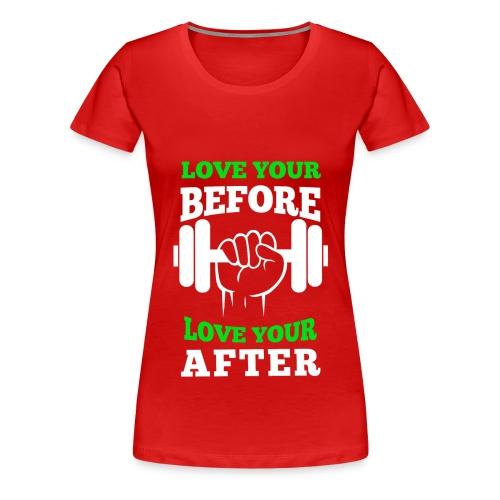 Women's PFLH Love Your Workout Premium Tee - Women's Premium T-Shirt
