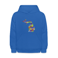 Sweatshirts ~ Kids' Hoodie ~ Michigan Autism Awareness