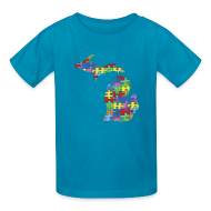 Kids' Shirts ~ Kids' T-Shirt ~ Michigan Autism Awareness