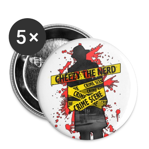 Official Cheezy Buttons (5 Pack) - Buttons large 2.2'' (5-pack)