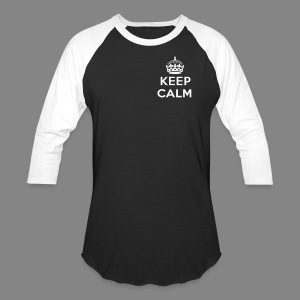 Men's Keep Calm Baseball Shirt - Baseball T-Shirt