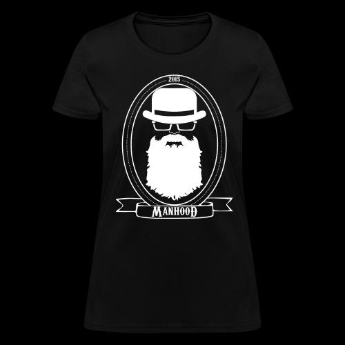 Manhood OG/front white logo  - Women's T-Shirt