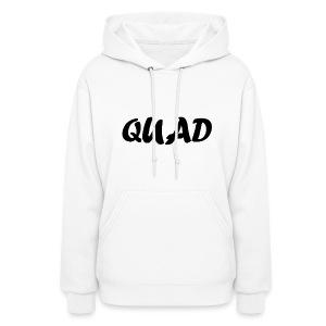 Womens Quad Hoodie (White) - Women's Hoodie