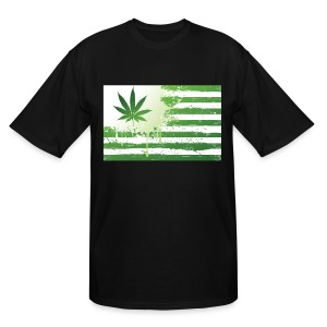 WEED FLAG - Men's Tall T-Shirt
