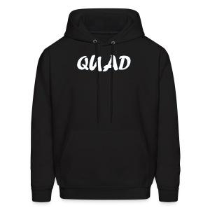 Mens Quad Hoodie (Black) - Men's Hoodie