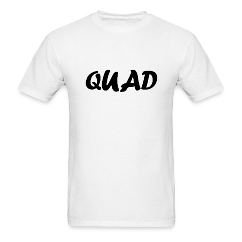 Mens Quad Shirt (White) - Men's T-Shirt