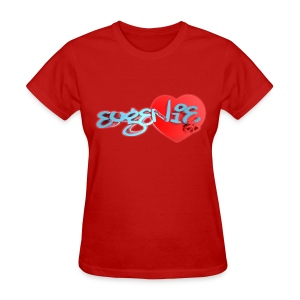 Blox3dnyc.com Heart2 design for Eugenie Edwards - Women's T-Shirt