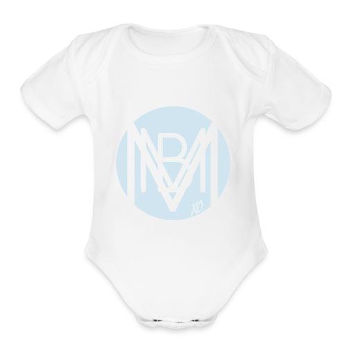 BABY SLEEPER BLUE LOGO - Organic Short Sleeve Baby Bodysuit