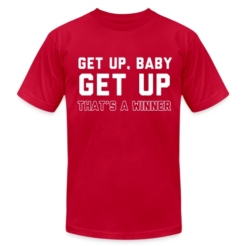 GET UP BABY - Men's Fine Jersey T-Shirt