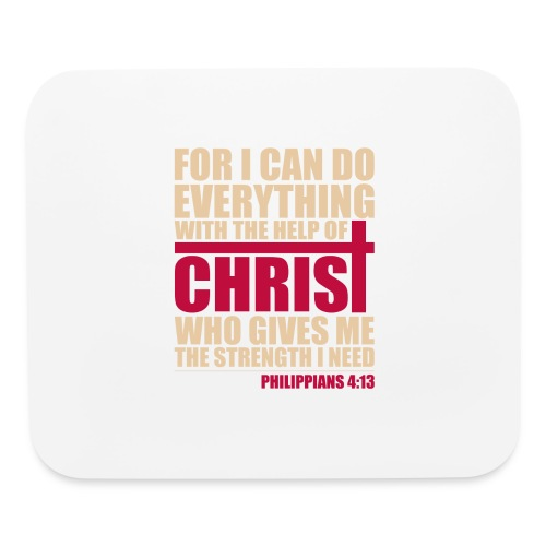 Philippians 4:13 Horizontal Mouse Pad - Mouse pad Horizontal