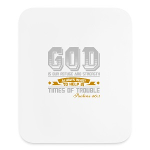 Psalms 46:1 Vertical Mouse Pad - Mouse pad Vertical