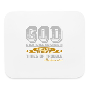 Psalms 46:1 Horizontal Mouse Pad - Mouse pad Horizontal