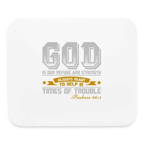 Psalms 46:1 Horizontal Mouse Pad - Mouse pad Horizontal