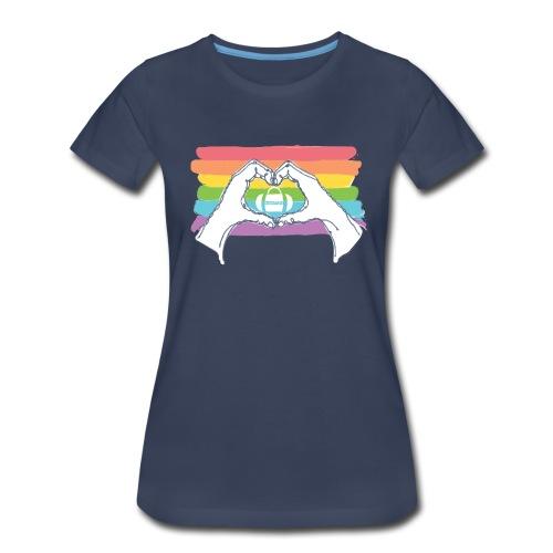 HHT Pride Rainbow Women's T-Shirt - Women's Premium T-Shirt
