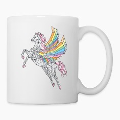 Geometric Pegasus (rainbow)  Mugs & Drinkware