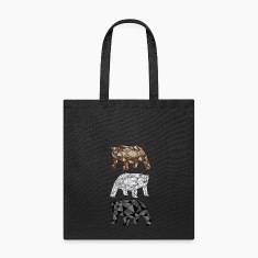 Geometric Bears (grizzly, polar, black) Bags & backpacks
