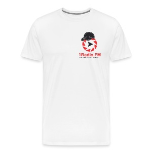 1Radio.FM white t-shirt - Men's Premium T-Shirt