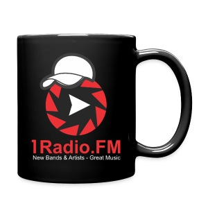 1Radio.FM Black Mug - Full Color Mug