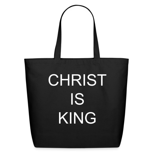 Christ Is King Tote Bag - Eco-Friendly Cotton Tote