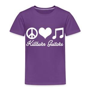 Peace Love Music Toddler Tee - Toddler Premium T-Shirt