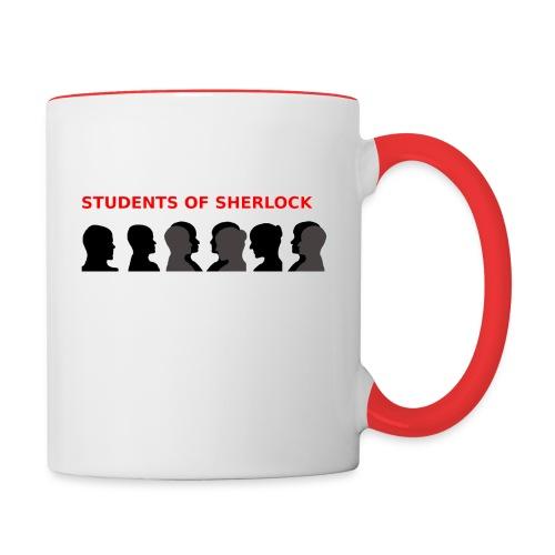 Students of Sherlock Group Picture Mug - Contrast Coffee Mug