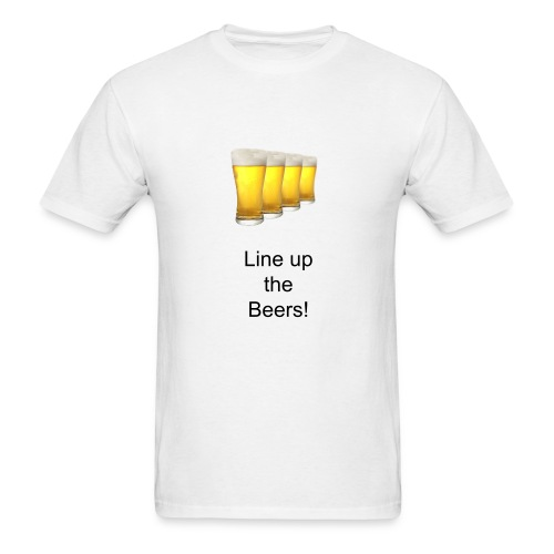 Line up the Beers! - Men's T-Shirt