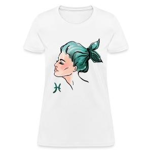 Women's PISCES T-Shirt (Art Design) - Women's T-Shirt