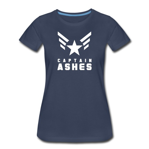 PREMIUM - Women's Captain's Wings with Name - Women's Premium T-Shirt