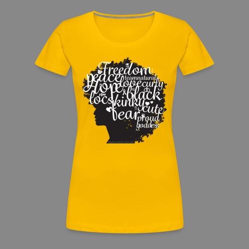 Afro Text II (Premium Shirt) - Women's Premium T-Shirt