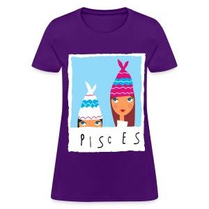 Women's PISCES T-Shirt (Cartoon Design) - Women's T-Shirt