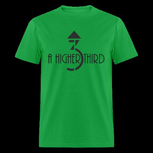 Men's - A Higher Third - Logo + Name (Standard Quality) - Men's T-Shirt