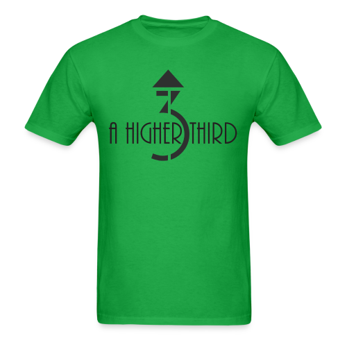 Men's - A Higher Third - Logo + Name (Standard Quality) - Men's T-Shirt