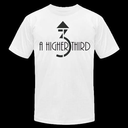 Men's - A Higher Third - Logo + Name (Premium Quality) - Men's Fine Jersey T-Shirt