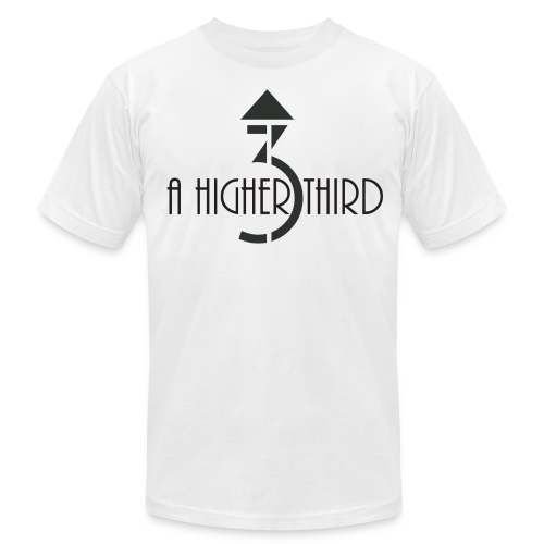 Men's - A Higher Third - Logo + Name (Premium Quality) - Men's Fine Jersey T-Shirt