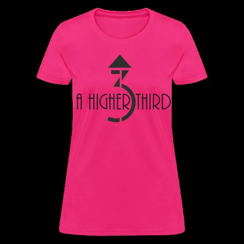Women's - A Higher Third - Logo + Name (Standard Quality) - Women's T-Shirt
