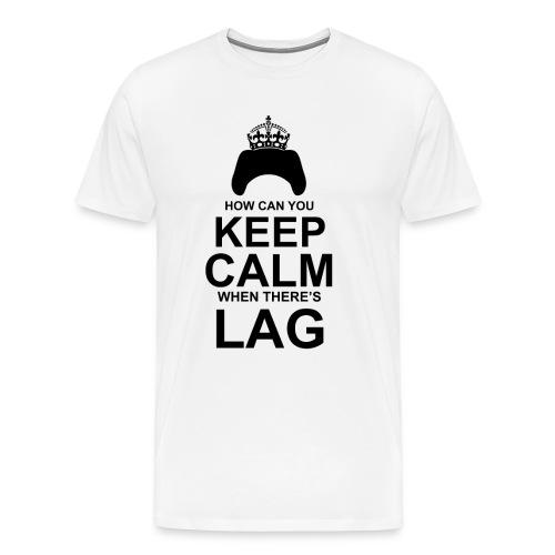 Keep Calm: White - Men's Premium T-Shirt