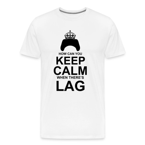 Keep Calm: White - Men's Premium T-Shirt