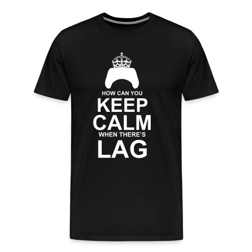 Keep Calm: Black - Men's Premium T-Shirt