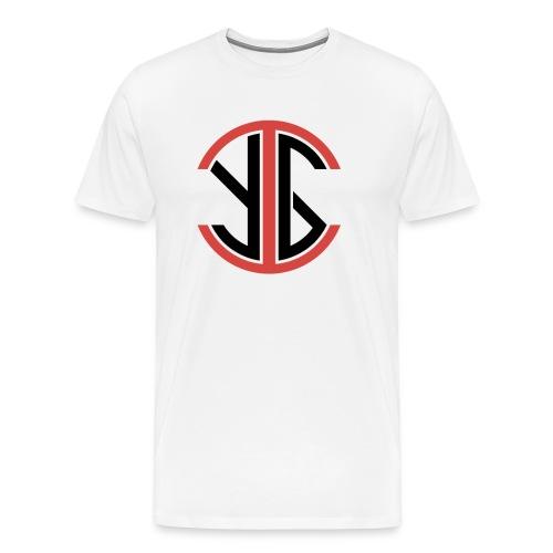 IYG Logo: White - Men's Premium T-Shirt