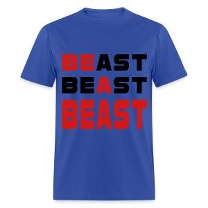 Be A Beast Blue Mens T-Shirt - Men's T-Shirt