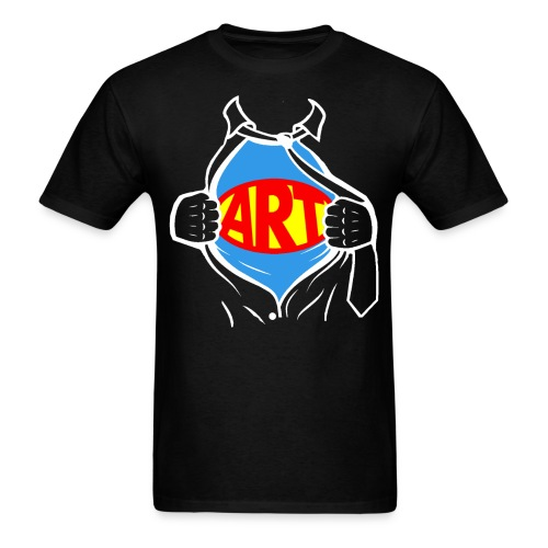 Art is a Super Power!  - Men's T-Shirt